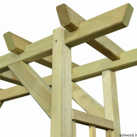 آلاچیق ساخته شده از چوب کاج