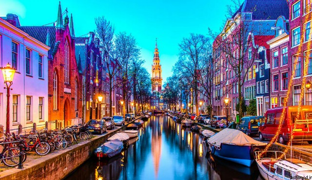 آمستردام روز و شب روشن, عکس خاص و زیبا