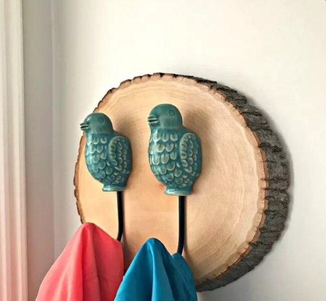 آویز چوبی دست ساز