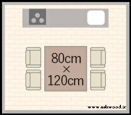 ابعاد استاندارد میز ناهارخوری چوبی