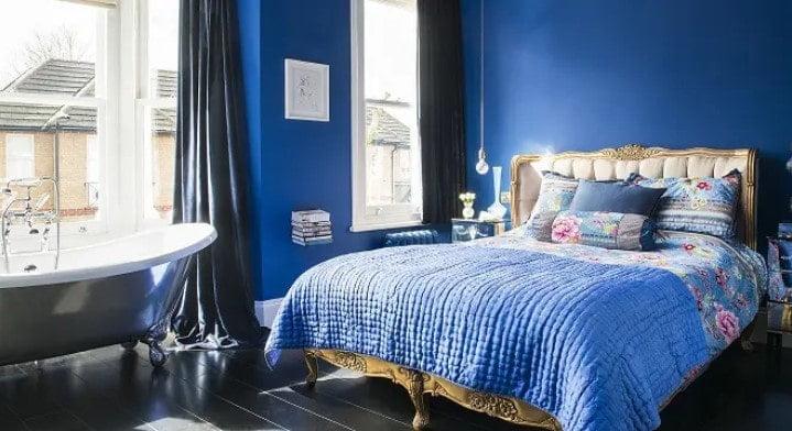 اتاق خواب آبی برای زوج ها