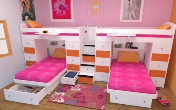 اتاق خواب برای دوقلوها