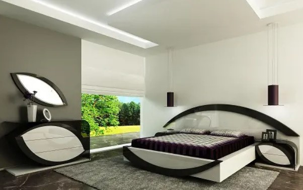 اتاق خواب به شکل چشم