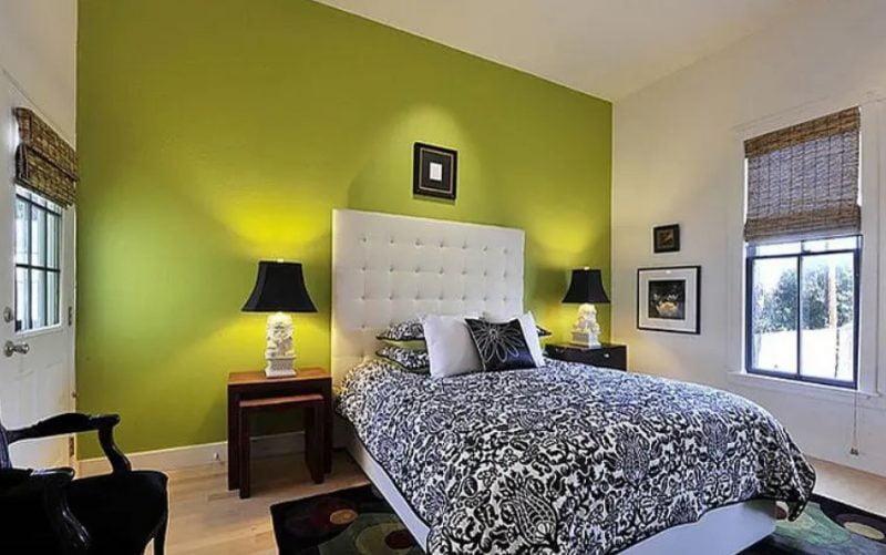 اتاق خواب تک رنگ
