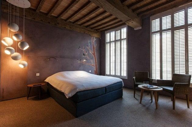اتاق خواب خاکستری رنگ