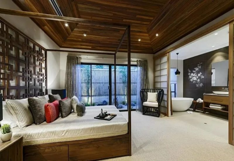 اتاق خواب داخلی ژاپنی