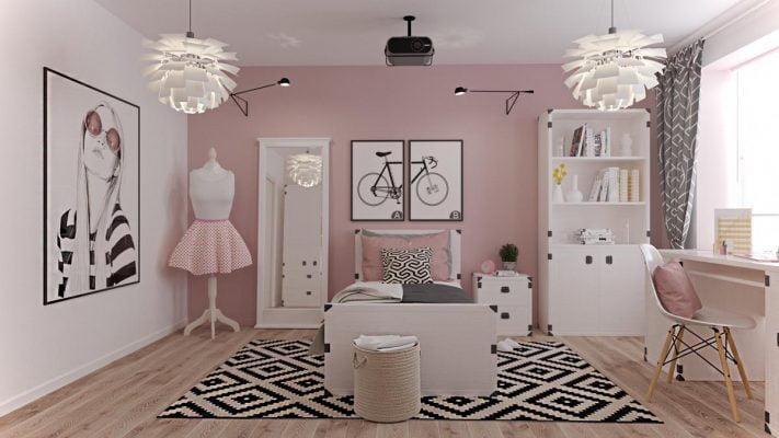 اتاق خواب دخترانه برای نوجوانان