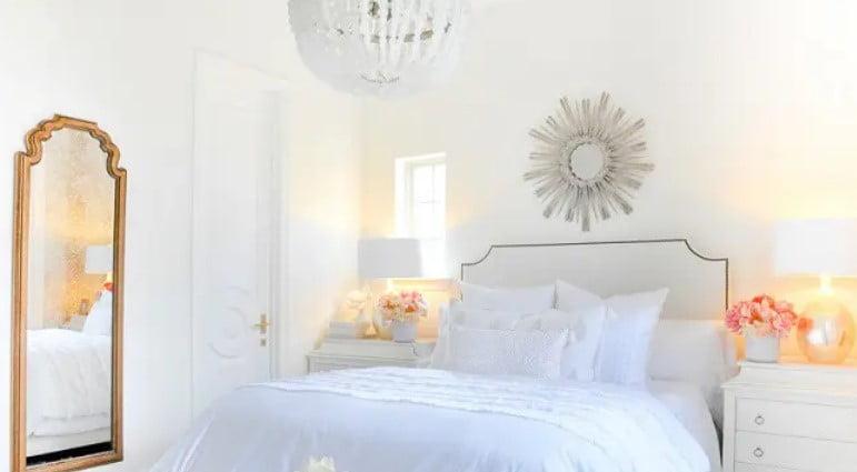 اتاق خواب رنگ سفید