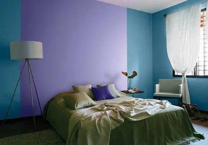 اتاق خواب رنگ های آسیایی