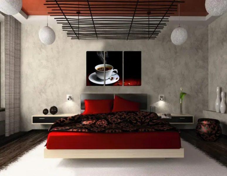 اتاق خواب شناور دیواری