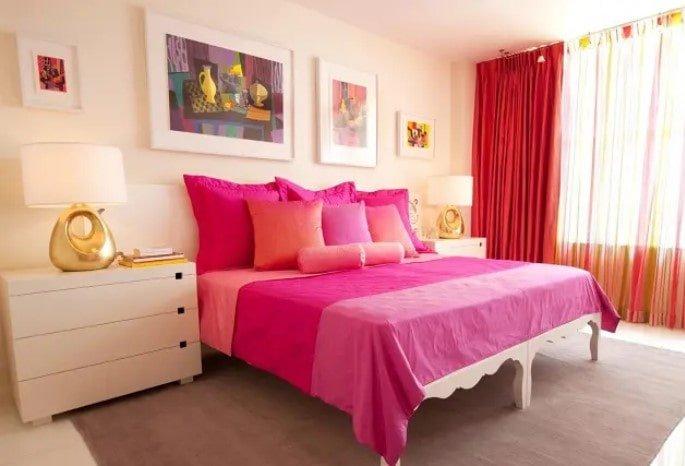 اتاق خواب صورتی برای زوج ها