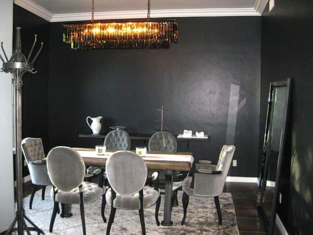 اتاق ناهار خوری سیاه