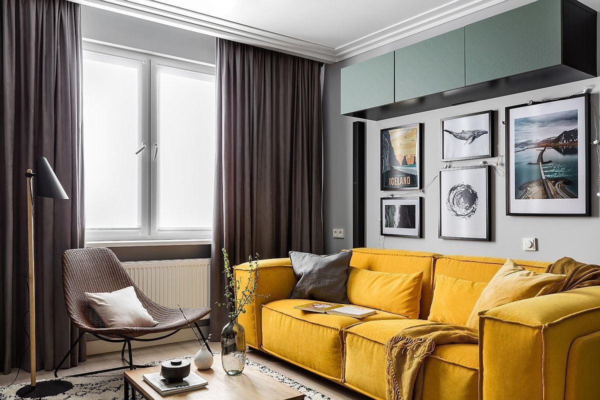 تزئین اتاق نشیمن کوچک : دکوراسیون چوبی مناسب که فضا را بزرگتر می کند