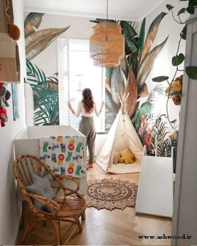 دکوراسیون اتاق کودک سبک گرمسیری