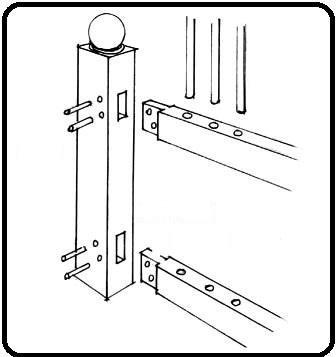 اتصال میخ چوبی و دوبل چوب