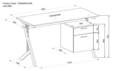 ابعاد استاندارد یک میز تحریر , همه چیز درباره انواع میز کار و اندازه میز
