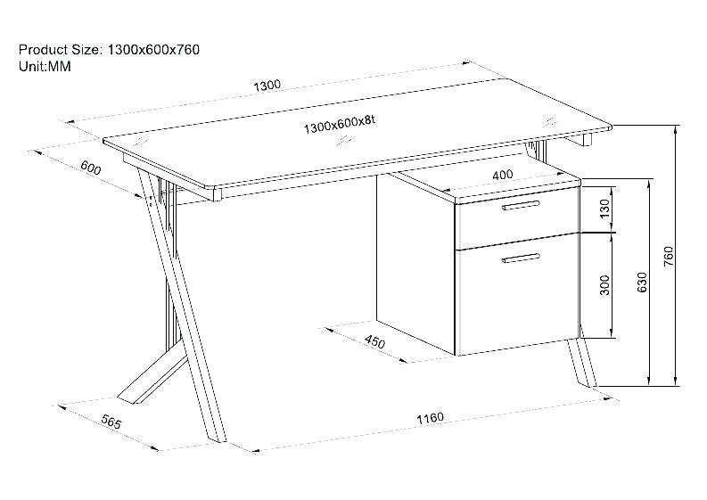 استاندارد میز تحریر , ابعاد میز تحریر زمینی, ابعاد میز تحریر ساده, ارتفاع استاندارد میز کامپیوتر