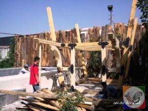 ساخت آلاچیق چوبی ، پرگولا ، ستون ، تیر چوبی ، حصار و نرده در دکوراسیون خارجی منزل