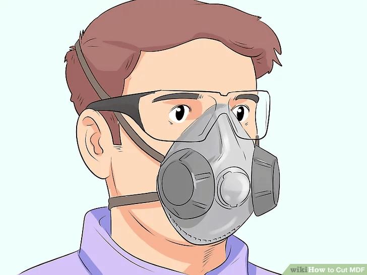 استفاده از ماسک برای جلوگیری از عبور گرد و غبار