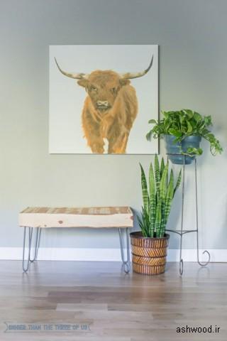 میز اسلب چوب