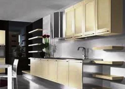 دکوراسیون چوبی و ام دی اف آشپزخانه ، کابینت