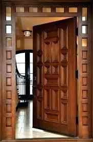 انواع درب ورودی چوبی