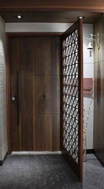 انواع درب چوبی زیبا