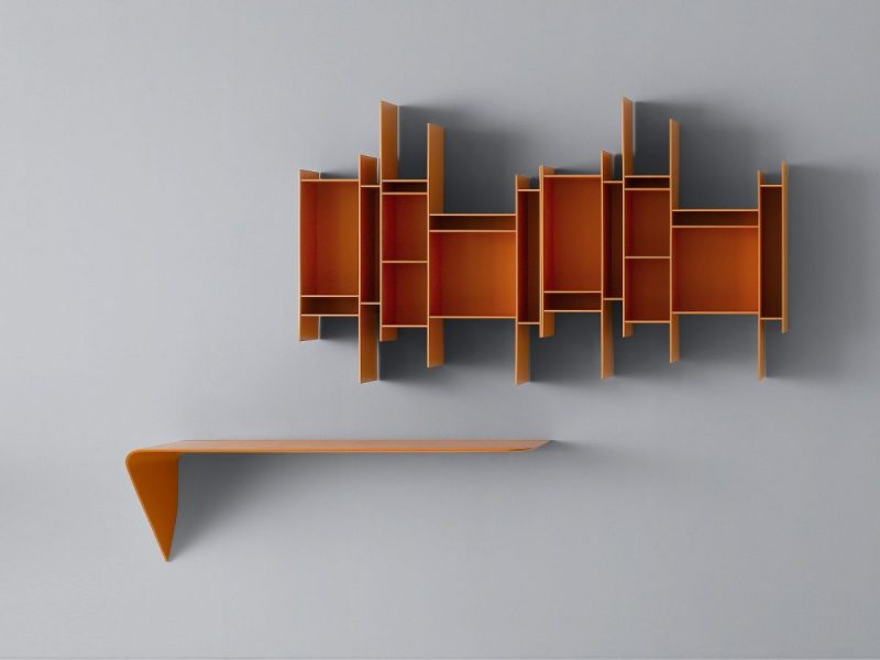 انواع قفسه های دیواری چوبی