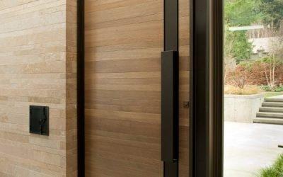 25 طرح مدرن درب چوبی لابی و ورودی
