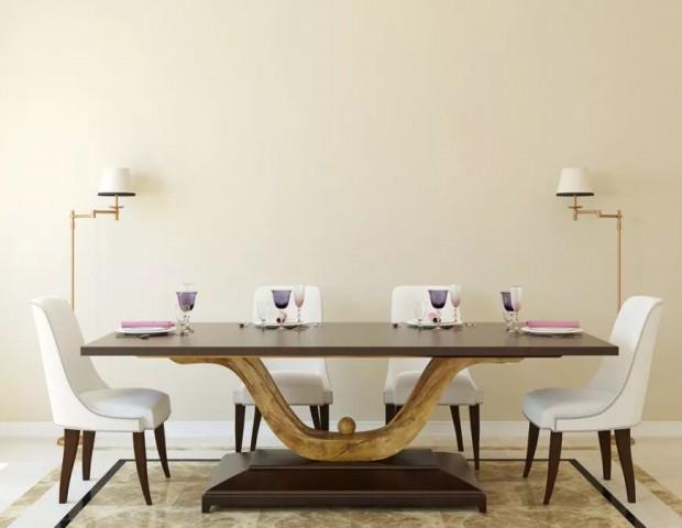 میز اتاق ناهار خوری پایه پایه مدرن سفارشی.