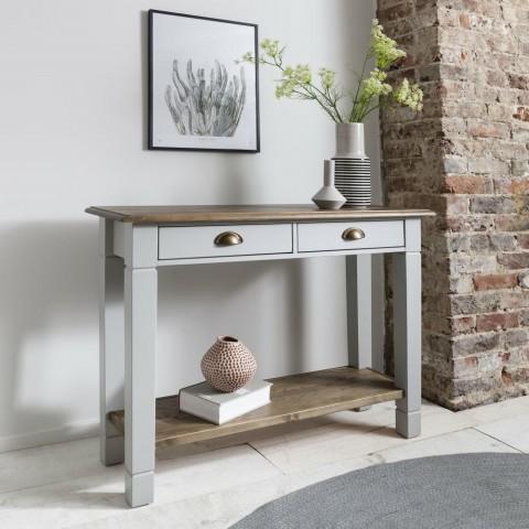 میز کنسول چوبی پذیرایی , کنسول چوبی ساده