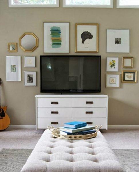 ایده برای دیوار پشت تلویزیون