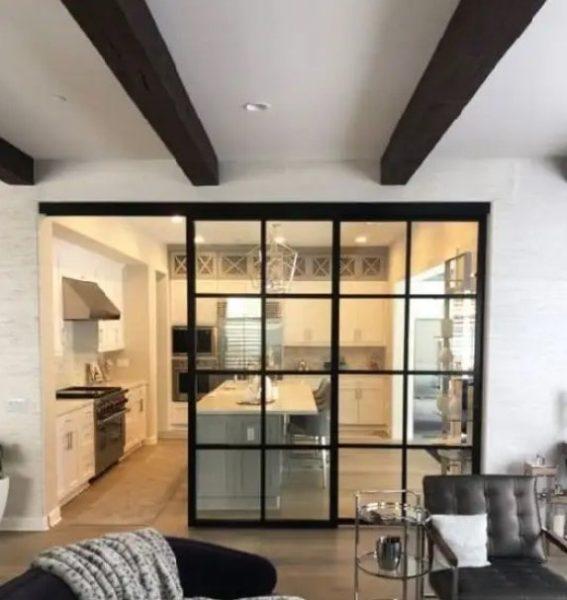 ایده تقسیم آشپزخانه و اتاق نشیمن