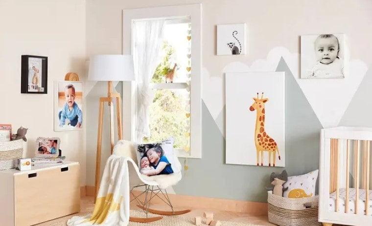 ایده دیوار اتاق خواب کودک خردسال