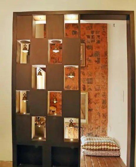 ایده دیوار پارتیشن برای اتاق کوچک