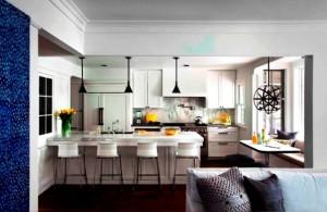 دکوراسیون داخلی ، آشپزخانه ، رنگ سفید ، ایدهایی برای آشپزخانه چوبی ، کلاسیک