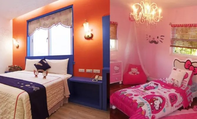 ایده های دیوار اتاق خواب دختران
