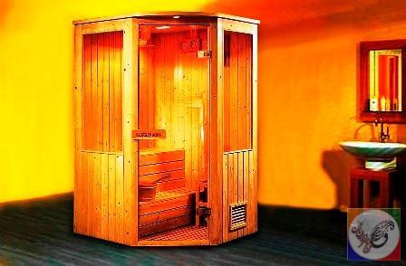 سونای خشک دو نفره پیش ساخته خانگی