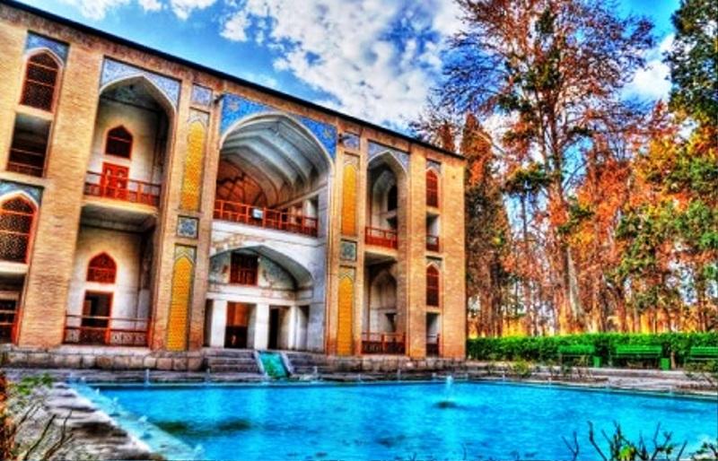 باغ فین کاشان + عکس و پلان معماری , باغ ایرانی