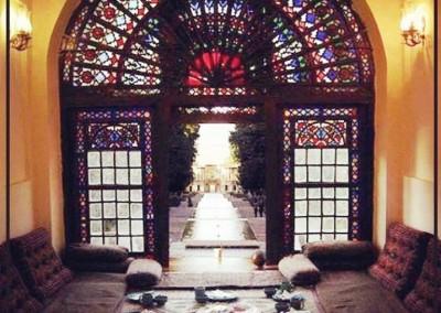 باغ ماهان پنجره ارسی