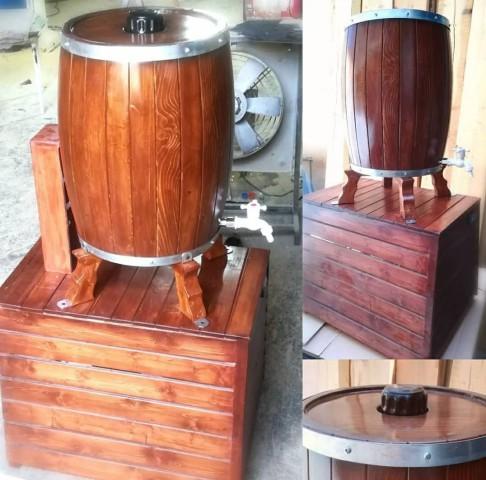 بشکه چوبی یخچال دار