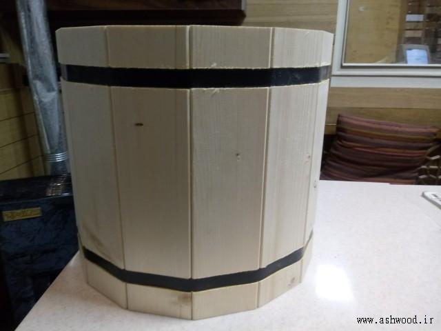 ساخت سطل چوبی