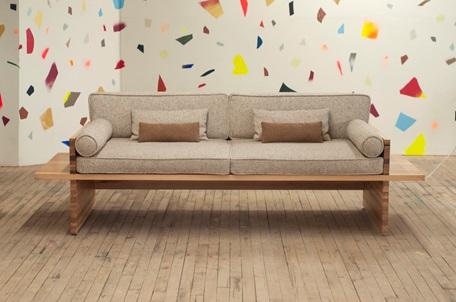طیف رنگی روشن مبل ساخته شده از چوب بلوط سفید