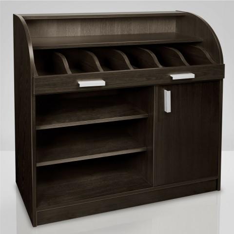 کنسول چوبی و فضایی برای نگهداری ظروف