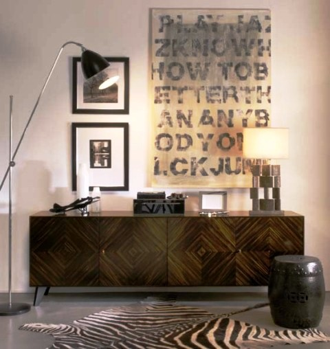 بوفه ویترین چوبی , کنسول , دکوراسیون