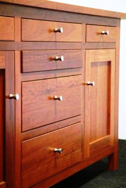 ساخت دکوراسیون داخلی منزل بوفه و ویترین چوبی