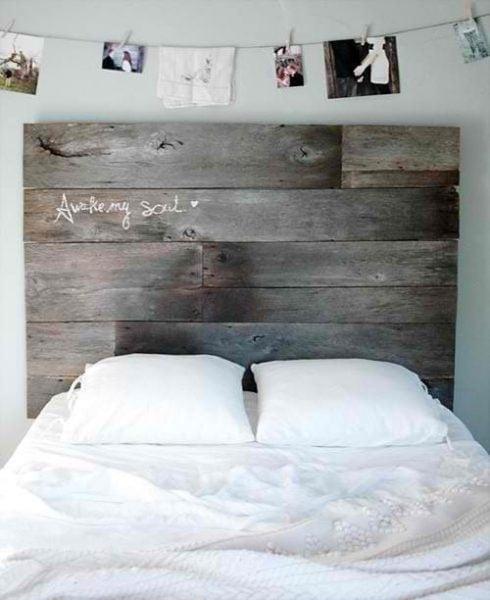 استفاده از تاج تخت چوبی برای دکوراسیون چوبی منزل