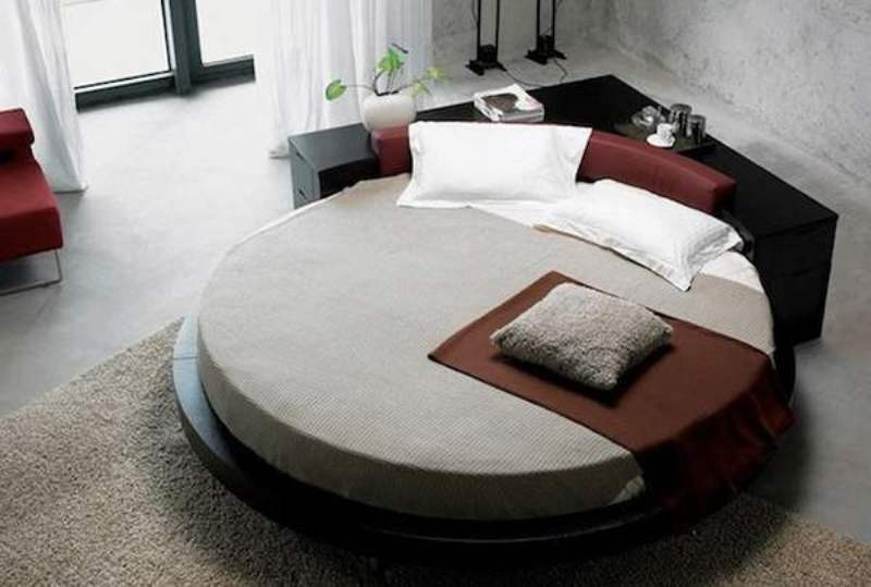 تخت خواب گرد مدرن