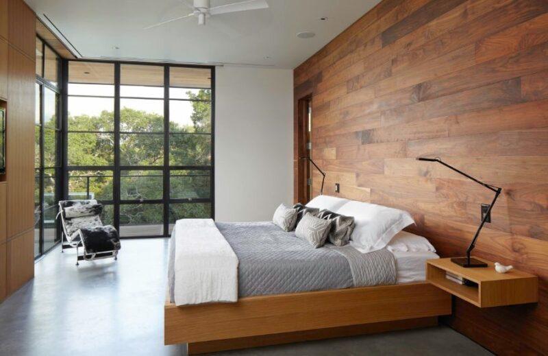 تخت خواب دیوارکوب چوبی
