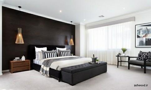 تخت خواب هایی با قاب سیاه – طراحی داخلی سیاه و مشکی با چوب